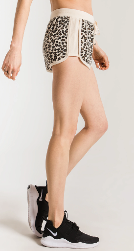 Brushed Leopard Short