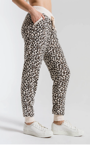 Brushed Leopard Jogger