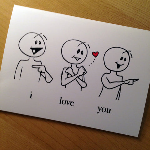 """I Love You"" Cards"