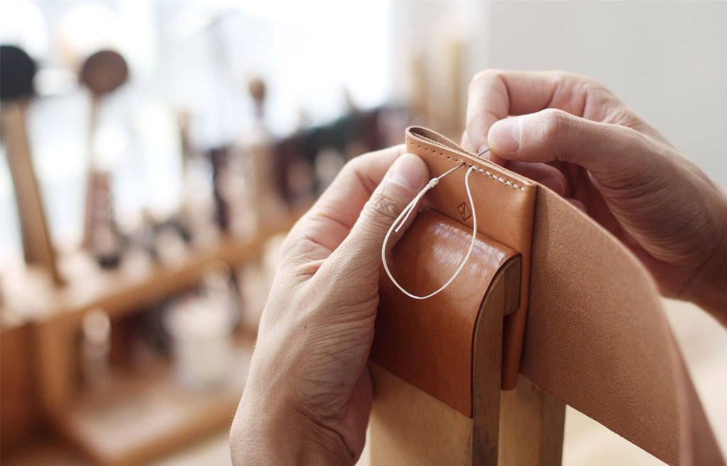 handstitching leather goods