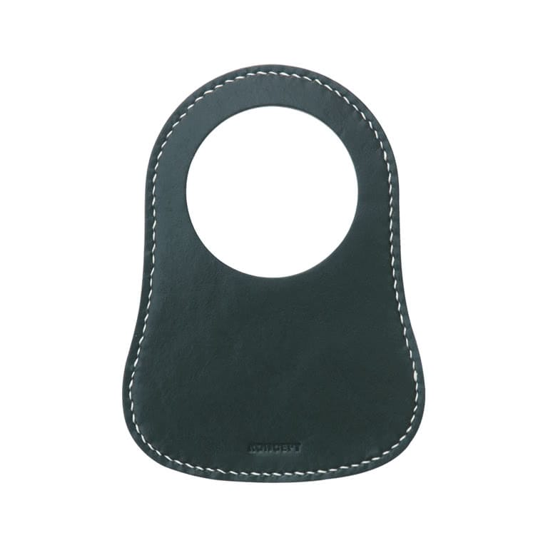 Classic Mini British Racing Green Leather Fuel Bib - Koncept Studios