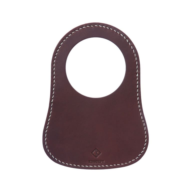 Classic Mini Brown Leather Fuel Bib - Koncept Studios