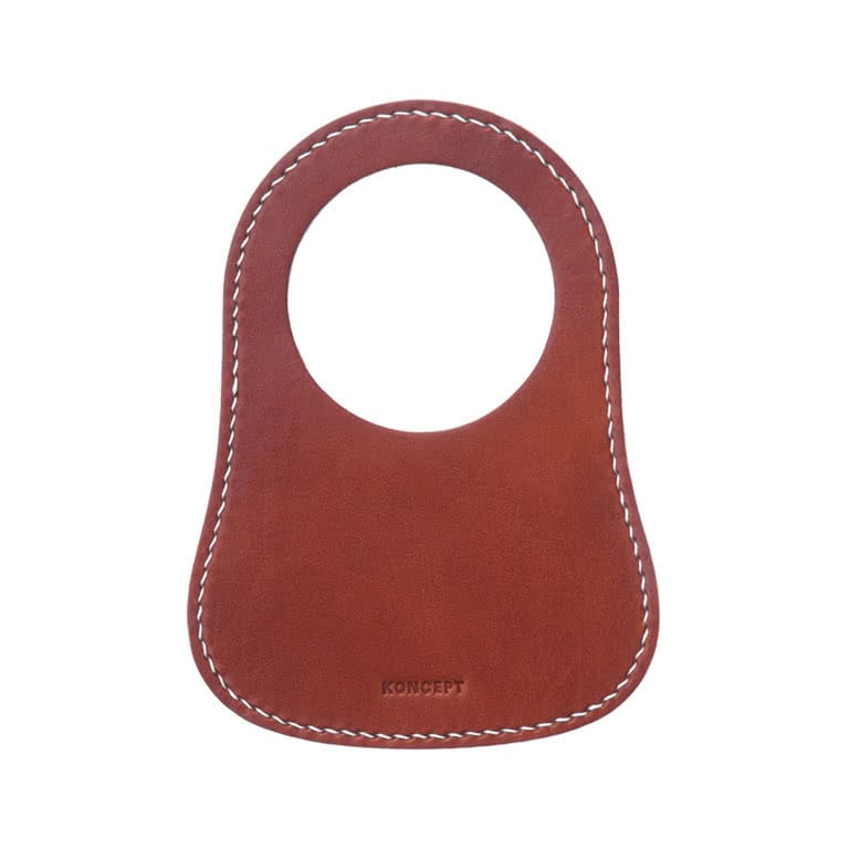 Classic Mini Tan Leather Fuel Bib - Koncept Studios