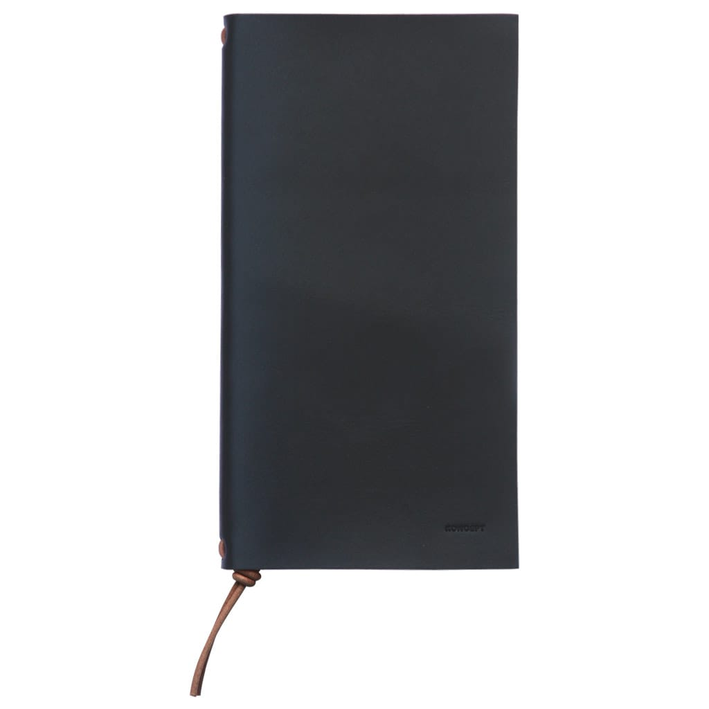 Koncept Studios Black Leather A5 Traveler's Notebook