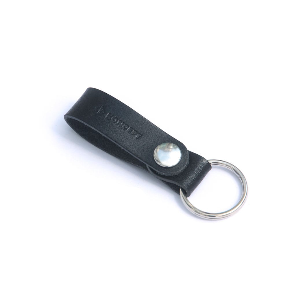 Koncept personalized leather key ring