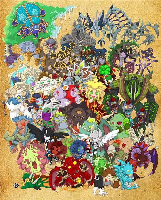 World of WarCraft Silk Print Games Poster 062