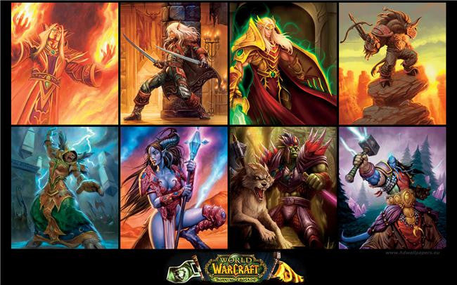 World of WarCraft Silk Print Games Poster 081