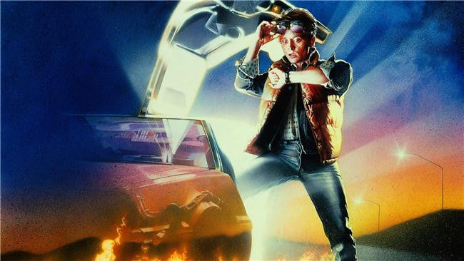 Back To The Future Silk Print Movies Poster 002
