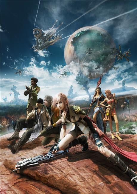 Final Fantasy 13 XIII Silk Print Games Poster 001
