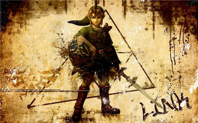 Legend Of Zelda Silk Print Game Poster 001