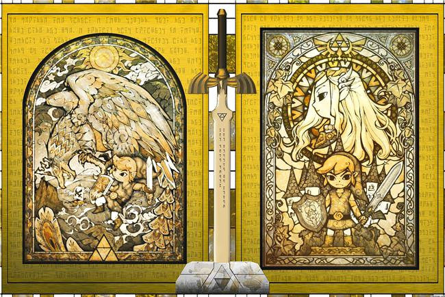 Legend Of Zelda Silk Print Game Poster 029