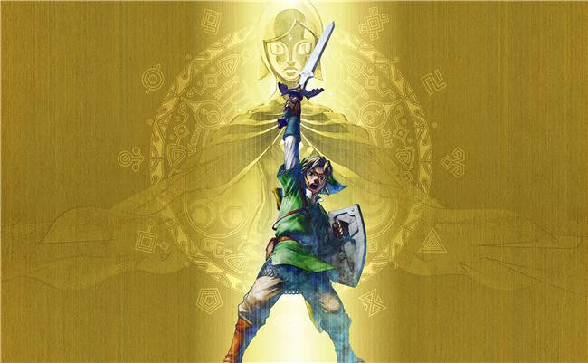 Legend Of Zelda Silk Print Game Poster 032
