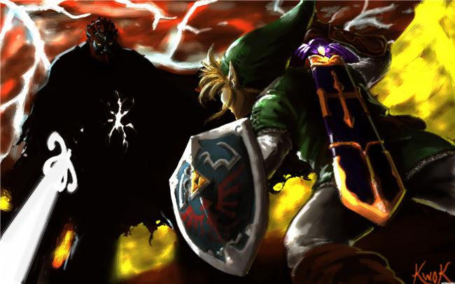 Legend Of Zelda Silk Print Game Poster 036