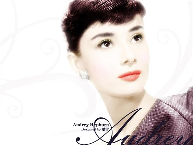 Audrey Hepburn Silk Print Artists Poster 013