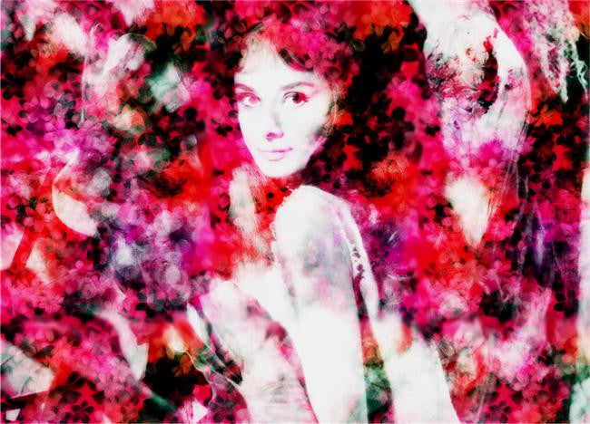 Audrey Hepburn Silk Print Artists Poster 118