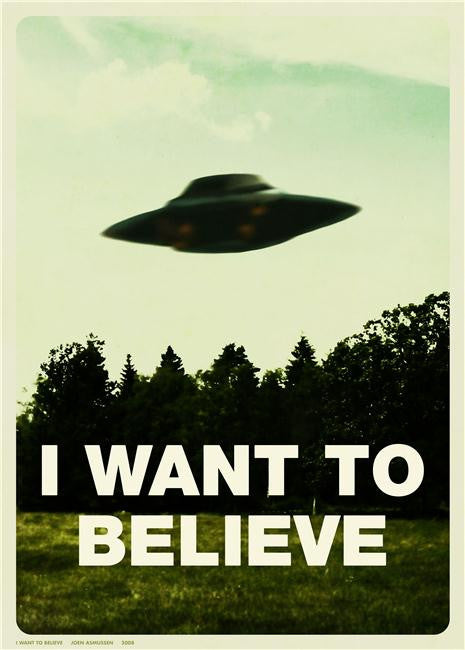 X Files I Want to Believe Silk Print Movies Poster 001