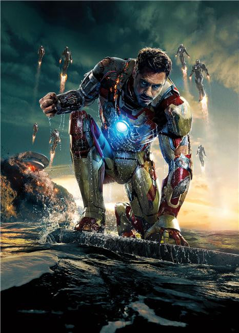 Iron Man 3 Silk Print Movies Poster 004