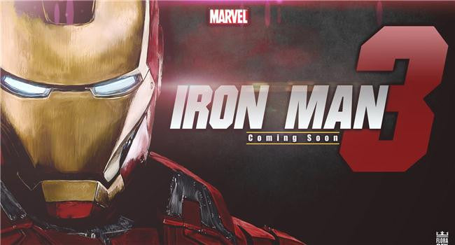 Iron Man 3 Silk Print Movies Poster 012