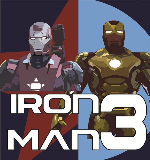 Iron Man 3 Silk Print Movies Poster 020