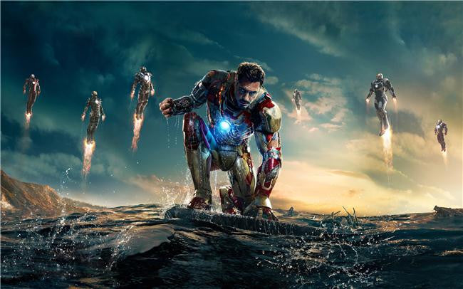 Iron Man 3 Silk Print Movies Poster 022