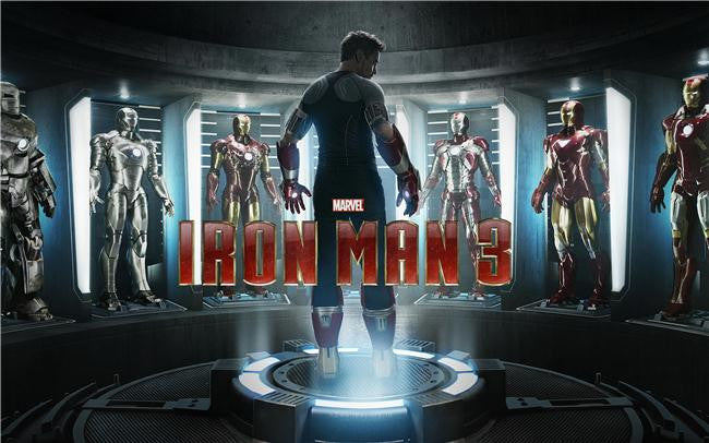 Iron Man 3 Silk Print Movies Poster 023