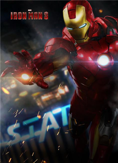 Iron Man 3 Silk Print Movies Poster 024
