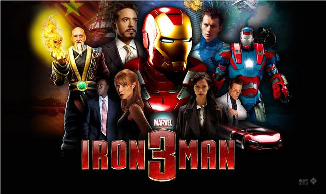 Iron Man 3 Silk Print Movies Poster 034