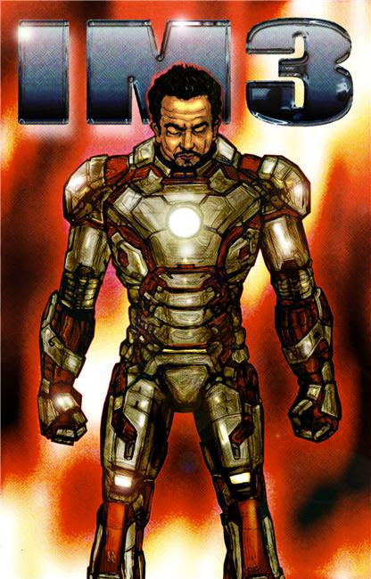 Iron Man 3 Silk Print Movies Poster 036