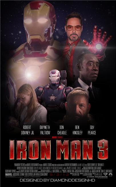 Iron Man 3 Silk Print Movies Poster 039