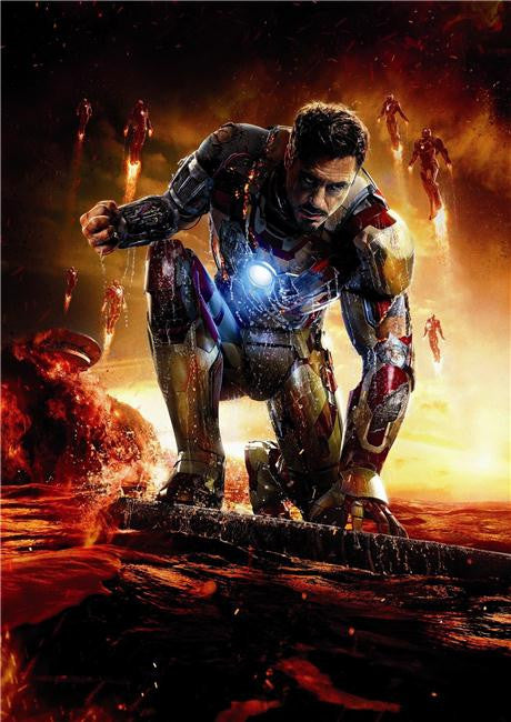 Iron Man 3 Silk Print Movies Poster 044