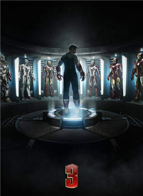 Iron Man 3 Silk Print Movies Poster 046