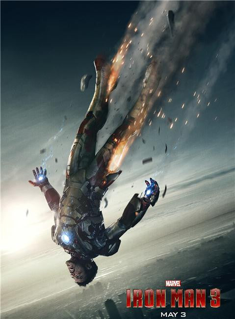 Iron Man 3 Silk Print Movies Poster 047
