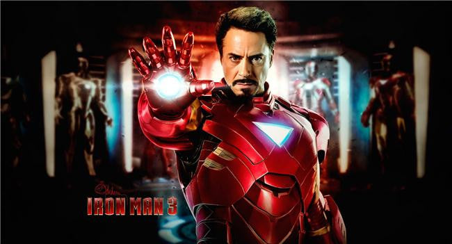 Iron Man 3 Silk Print Movies Poster 050