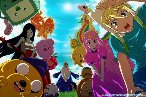 Adventure Time Silk Print Animes Poster 018
