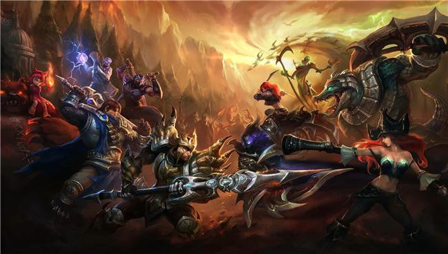 League Of Legends Silk Print Games Poster 034