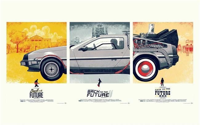Back To The Future Silk Print Movies Poster 009
