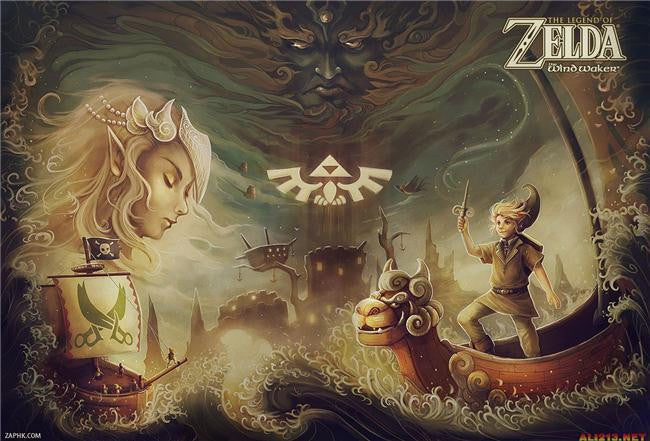 Legend Of Zelda Silk Print Game Poster 056