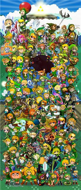 Legend Of Zelda Silk Print Game Poster 058