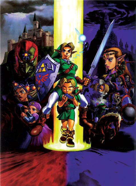 Legend Of Zelda Silk Print Game Poster 062