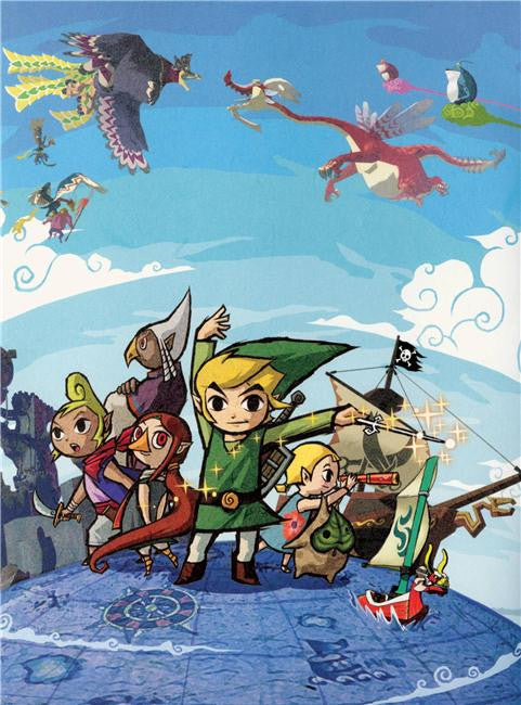 Legend Of Zelda Silk Print Game Poster 067