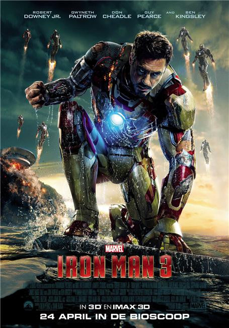 Iron Man 3 Silk Print Movies Poster 058