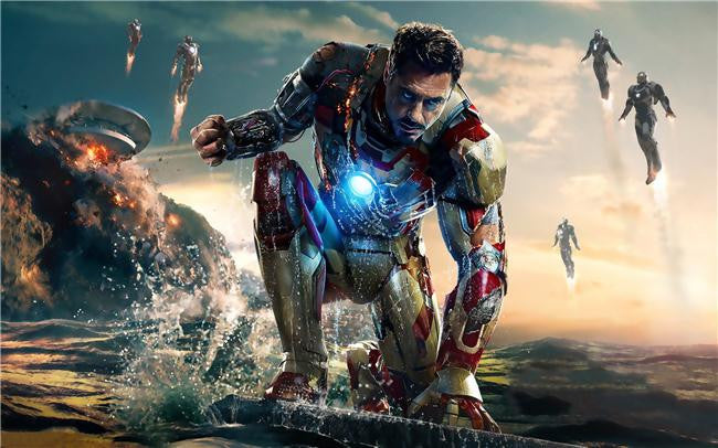 Iron Man 3 Silk Print Movies Poster 059