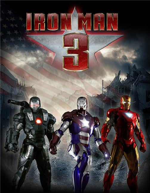 Iron Man 3 Silk Print Movies Poster 065