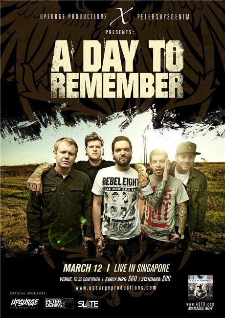 A Day to Remember Silk Print Music Poster 002