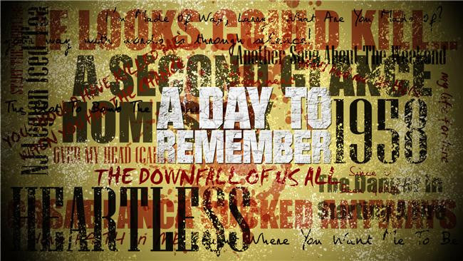 A Day to Remember Silk Print Music Poster 007