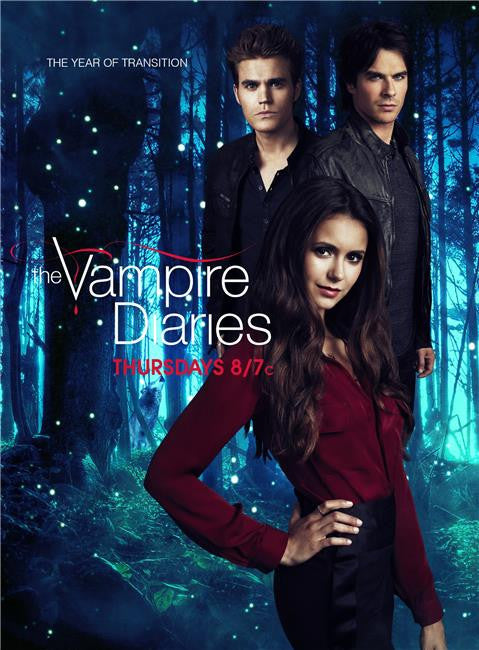 The Vampire Diaries Season 5 Silk Print TV Shows Poster 008