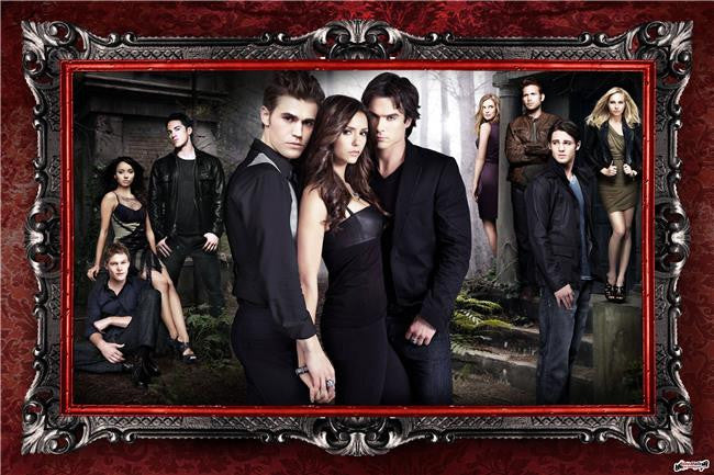 The Vampire Diaries Season 5 Silk Print TV Shows Poster 016