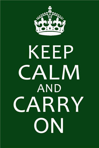 Keep Calm and Carry On Silk Print Motivational Poster 010