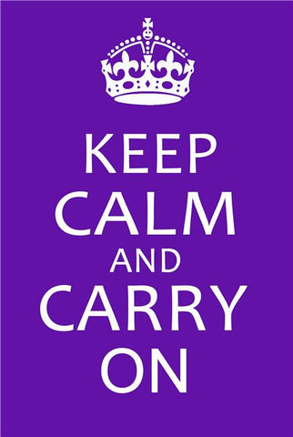 Keep Calm and Carry On Silk Print Motivational Poster 011