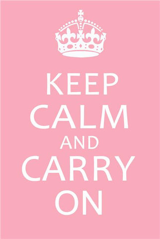 Keep Calm and Carry On Silk Print Motivational Poster 008